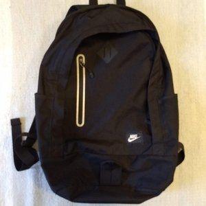 """Black NIKE backpack, EUC.  Approx 19"""" tall"""
